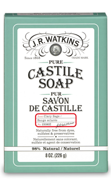 JR Watkins Products CASTILE BAR SOAP - CLARY SAGE - Where to Buy
