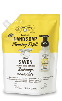 JR Watkins Foaming Liquid Hand Soap Refill Lemon