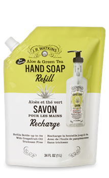 JR Watkins Liquid Hand Soap Refill Aloe & Green Tea