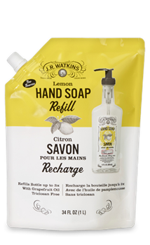 JR Watkins Liquid Hand Soap Refill Lemon